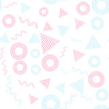 Color universal geometric seamless pattern. In pointillism style. Endless vector circle texture can be used for wrapping wallpaper, pattern fills, web Stock Image
