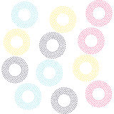 Color universal geometric seamless pattern. In pointillism style. Endless vector circle texture can be used for wrapping wallpaper, pattern fills, web Royalty Free Stock Photography