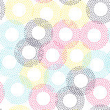 Color universal geometric seamless pattern. In pointillism style. Endless vector circle texture can be used for wrapping wallpaper, pattern fills, web Royalty Free Stock Photos