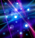 Color the universe - stars, nebulae in space. Color the universe - stars, nebulae and the rays of light in space. Vector illustration Royalty Free Stock Photography