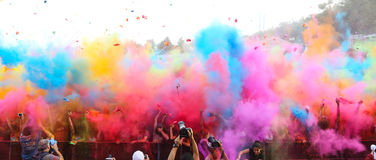 Color Up Run Royalty Free Stock Images