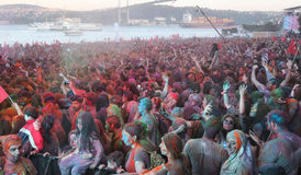 Color Up Run in Istanbul Stock Photo