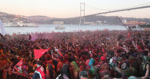 Color Up Run in Istanbul Stock Images