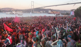 Color Up Run in Istanbul Royalty Free Stock Photo