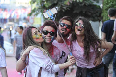 Color Up Run in Istanbul Stock Image