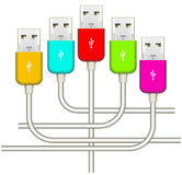 Color usb Stock Photos