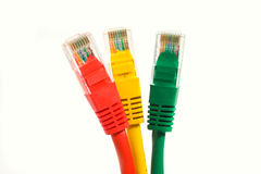 Color UTP cables Royalty Free Stock Images