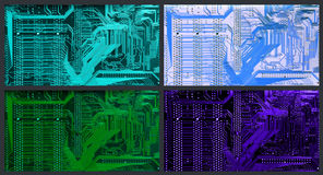 Color variants of printed circuit Stock Image