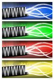 Color variation Internet and wires. Vector file also available Stock Photography