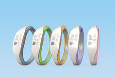 Color variation of smart wristbands.  Royalty Free Stock Photo