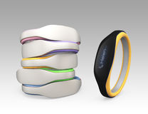 Color variation of smart wristbands.  Royalty Free Stock Photos