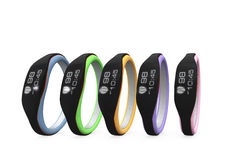 Color variation of smart wristbands Royalty Free Stock Photo