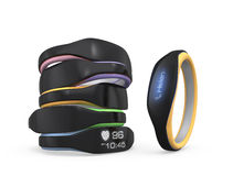 Color variation of smart wristbands Stock Image