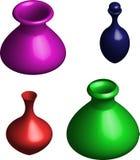 Color vase. Ceramic vase, brown pot, old pot Stock Image