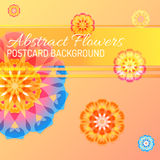 Color vector abstract flowers background Stock Photography
