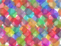 Color vector background with dices. Royalty Free Stock Image