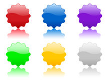 Color vector badge Royalty Free Stock Photo