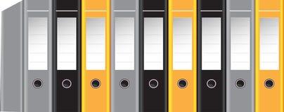 Color vector binders Stock Photo