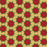 Color vector Christmas seamless pattern, hellebore flowers Royalty Free Stock Photography