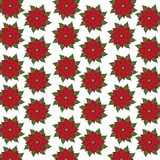 Color vector Christmas seamless pattern, hellebore flowers, Royalty Free Stock Image
