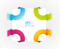 Color vector corner ribbons. Royalty Free Stock Photography