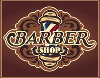 Color vector, editable template for the design of advertisements for barbershop royalty free stock photo