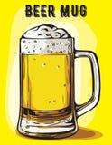 Color vector image of a beer mug Royalty Free Stock Image
