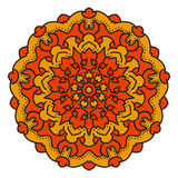 Color vector mandala. Eastern symmetrical circular pattern on a white background stock illustration