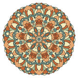 Color vector mandala. Eastern symmetrical circular pattern on a white background vector illustration