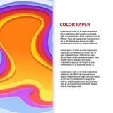 Color vector paper origami banner flyer design. Color vector paper origami banner and poster flyer design illustration vector illustration