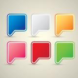 Color vector paper speech bubble set. Stock Image