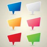 Color vector paper speech bubble set. Stock Photo