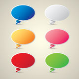 Color vector paper speech bubble set. Stock Photography