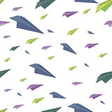Color vector pattern with airplanes Stock Images