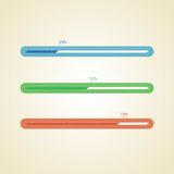 Color vector progress bars. Different color vector progress bars Royalty Free Stock Photos