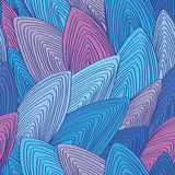 Color, vector, seamless, repeating pattern of stylized seashells Stock Photography