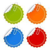 Color vector stickers set Royalty Free Stock Photos