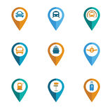 Color vector transportation icon set. Stock Photography