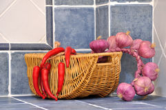 Color vegetable in kitchen Royalty Free Stock Photography