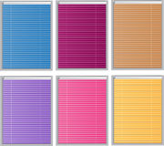 Color Venetian blind. Color illustration royalty free illustration
