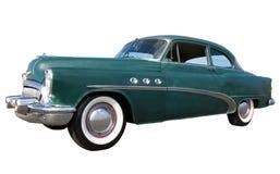 Color verde del coche de la vendimia Fotografía de archivo libre de regalías