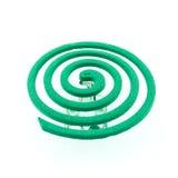 Color verde del mosquito anti - insecticidas, bobinas fotos de archivo libres de regalías