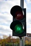 Color verde en el semáforo Fotografía de archivo