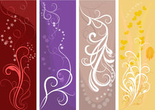 Color vertical banners Stock Images