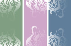 Color vertical banners Stock Photo