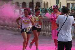 Color Vibe, people. Image of color vibe running. Italy, Livorno Royalty Free Stock Images