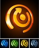 Color vibrant emblems. Royalty Free Stock Photo