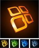Color vibrant emblems. Stock Images