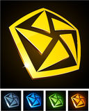 Color vibrant emblems. Stock Image