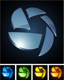 Color vibrant emblems. Stock Photos